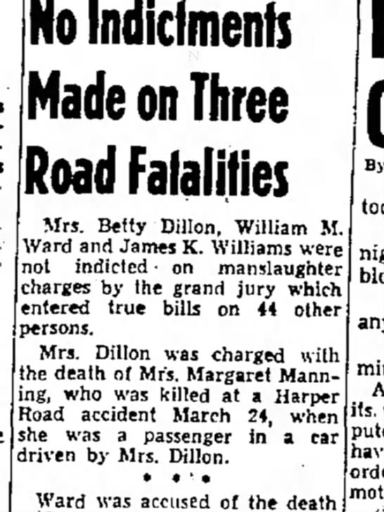 Mrs Dillon charges in death - today AH- Islands Nations No Indicfmenfs Made...