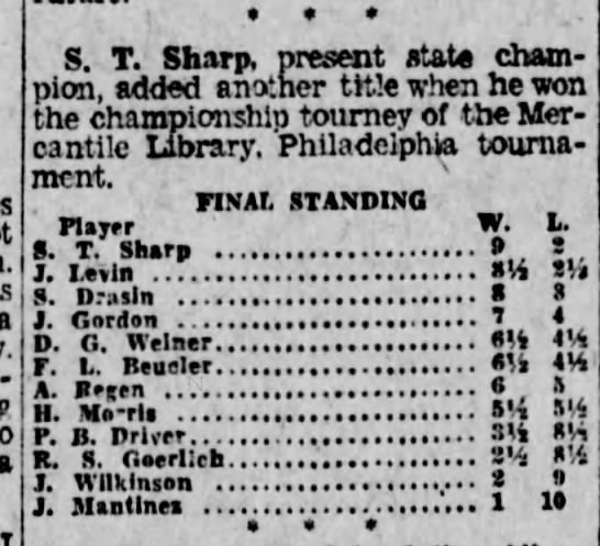 S. T. Sharp - a a S. T. Sharo. Dresent state cham pion, added...