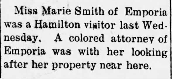 Marie Smith and her property 1915