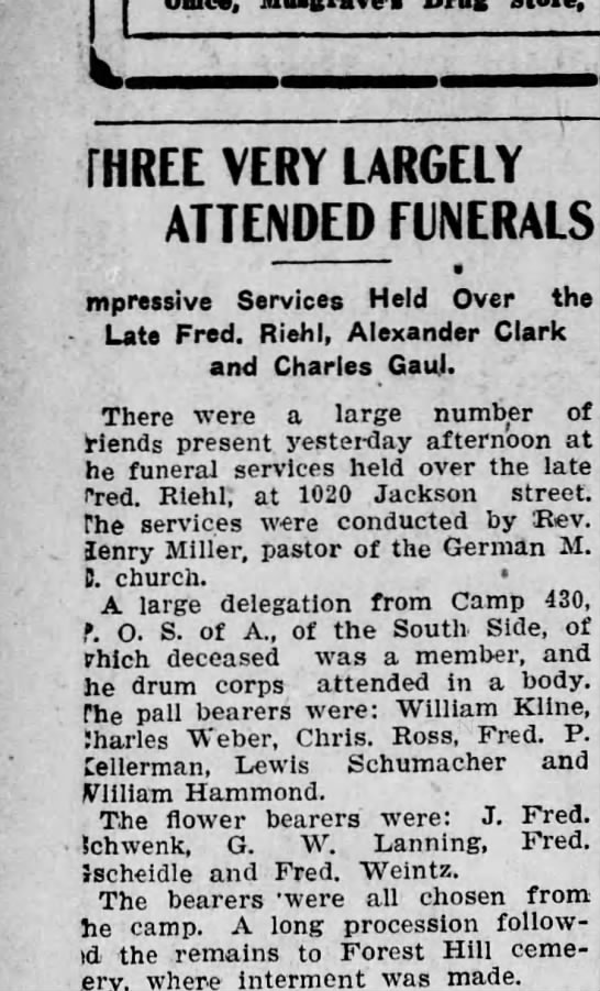 - W , - THREE VERY LARGELY ATTENDED FUNERALS...