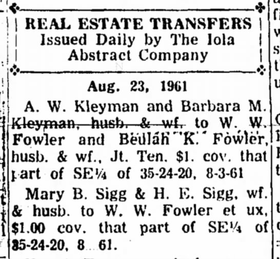 Kleyman & Sigg - Real Estate Transfers - 1 REAL ESTATE TRANSFERS I Issued Daily by The...