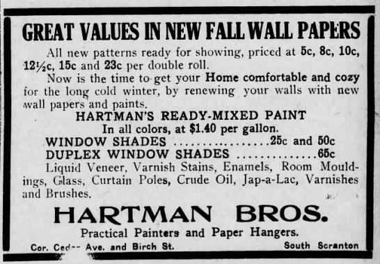Hartman Bros Fall wallpapers - GREAT VALUES IN NEW FALL WALL PAPERS All new...