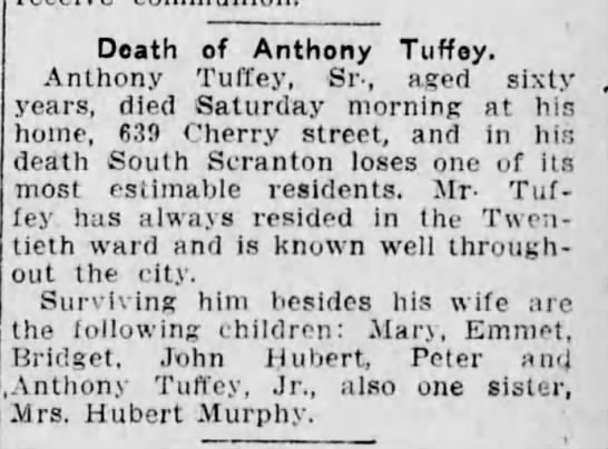 Anthony Tuffey Sr Obit - Doath of Anthony Tuffey. Anthony Tuffey, Sr.,...