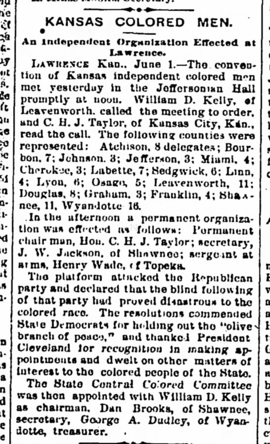 1888-06-08-IolaRegister-p2-KansasColoredMen - 4t ft tbe la- a KANSAS COLORED MEN. An...