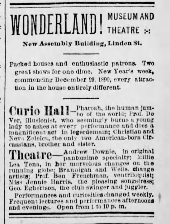 Downie Theater Ad