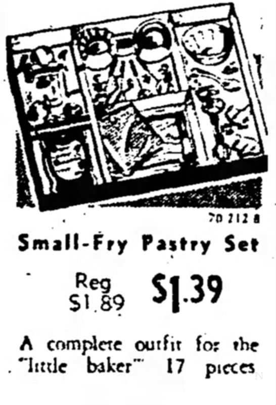 - Small-Fry Pastry Set sub $1 -39 A complete...