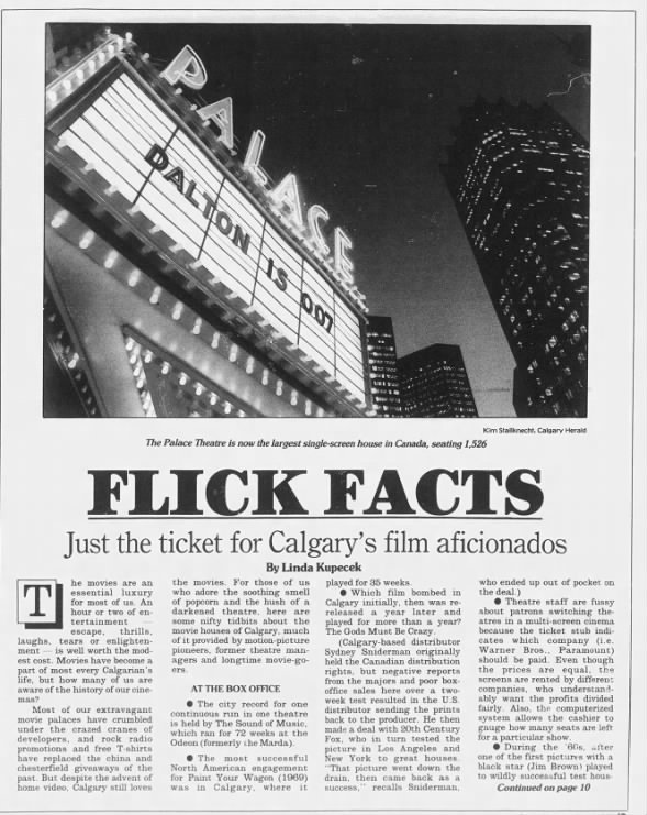 Calgary Flick Facts 1