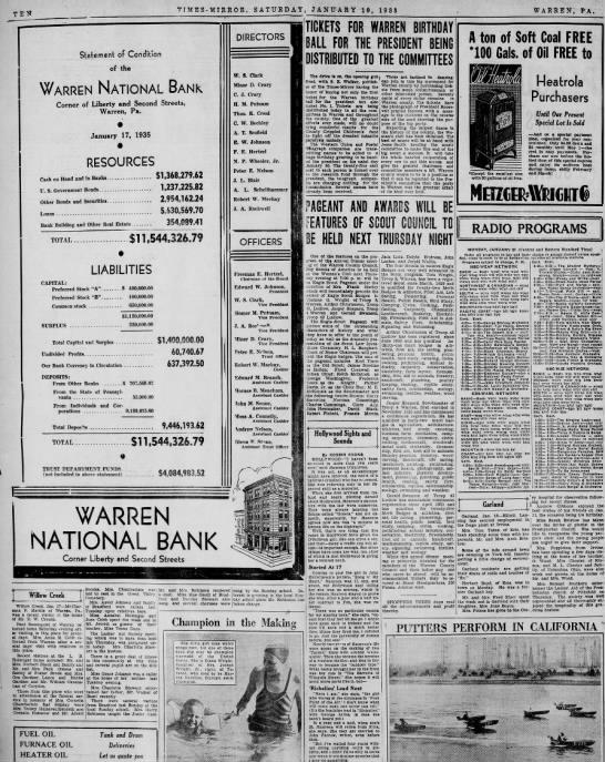 - TTMES-MIRROR. SATURDAY, JANUARY 19, 1935...