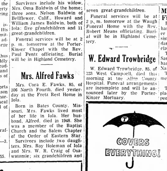 Core Fawks obit - the issued His administration thus and of of...