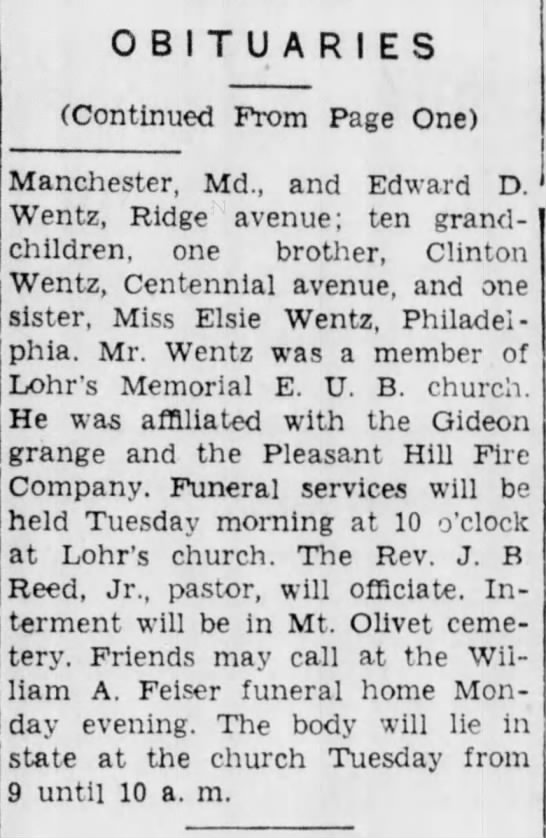 - OBITUARIES (Continued From Page One)...