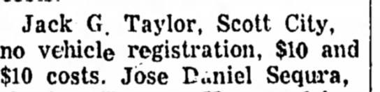 Oct. 1, 1968: Jack G. Taylor, Scott City...