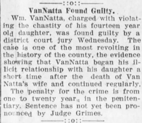 24 January 1919 The North Platte weekly tribune - VnnNufln Found Guilty. . Win. VanNntta, chnrged...