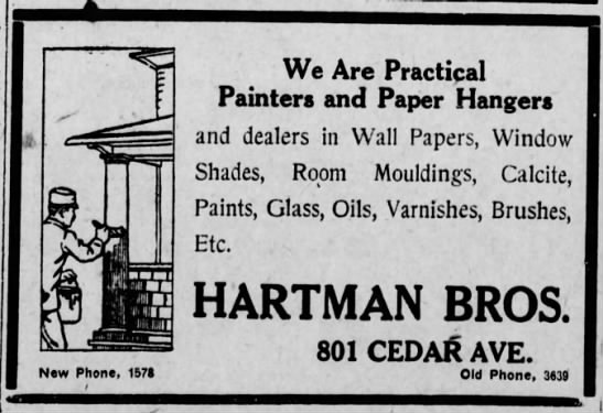 Hartman Bros Paint Advert - - New Phone, 1571 We Are Practical Painters and...