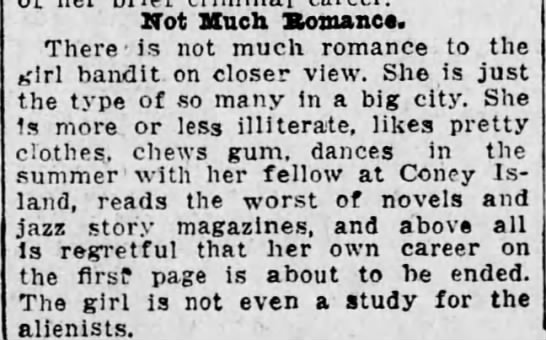 Not Much Romance to the Girl Bandit - Not Much. Romance. There - is not much romance...