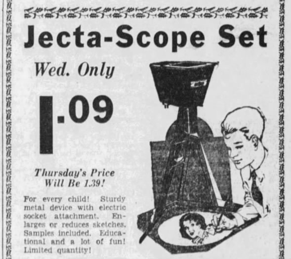 Jecta-Scope advertisement 1936