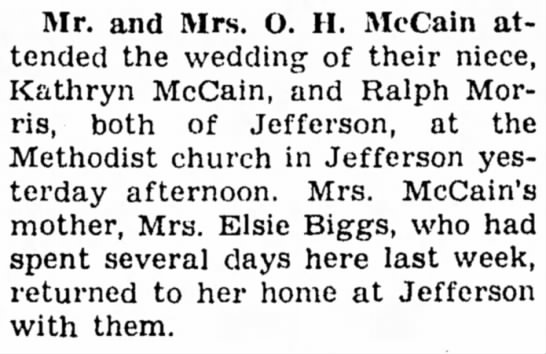 30 June 1947 Carroll Daily Times Herald, Carroll, Iowa - Mr. and Mrs. O. II. McCain attended attended...