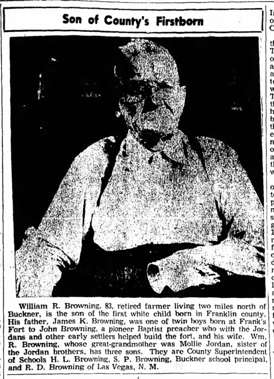 - Son of County's Firstborn William R. Browning,...