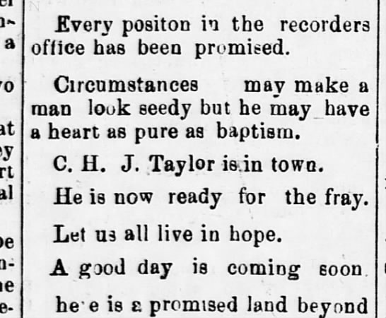 1893-06-10-WashingtonBee-p1-[TaylorInDC] - a Every positon in the recorders office has...