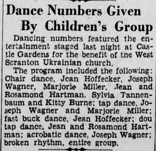 Rosamond & Jean Hartman Dance - Dance Numbers Given By Children's Group Dancing...