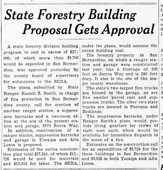 1935-4-30 State Forestry Building Proposal Gets Approval - State Forestry Building Proposal Gets Approval...