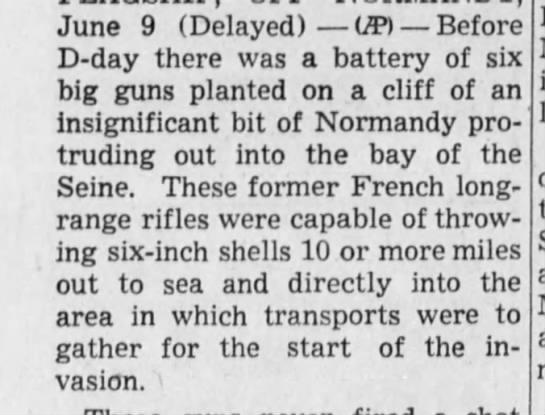 German guns at Pointe-du-Hoc
