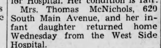 marilyn 10301936 - Mrs. Thomas McNichols, 6!u South Main Avenue,...