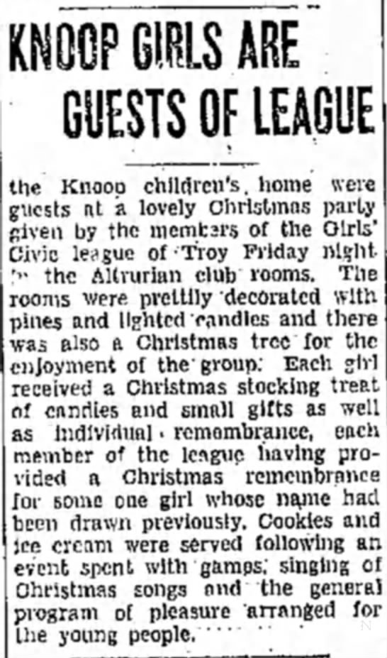 Christmas party for Knoop children - GUESTS OF LEAGUE the Knoop children's, home...
