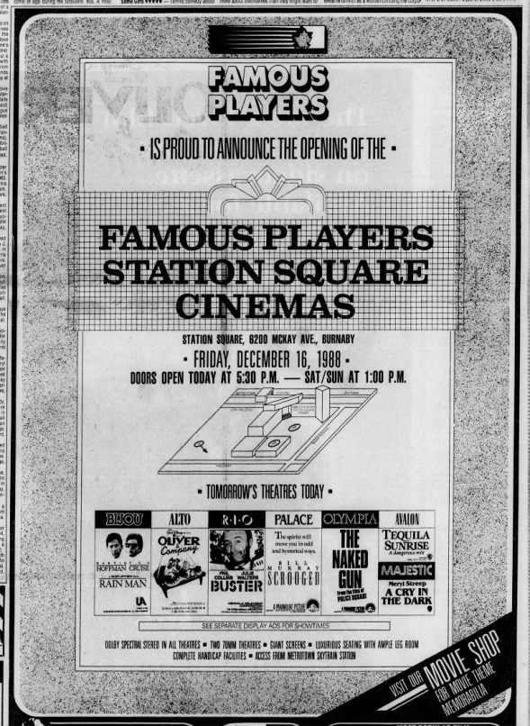 Famous Players Station Square opening