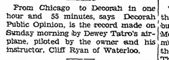 1935 Postville Herald 4.18.1935 - From Chicago to Decorah in one hour and 55...