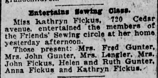 Kathryn Fickus entertains - . . ZatertftlM aewtaf Otoee. ti.. - uathrvn...