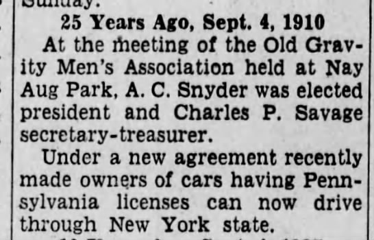 Angus C Snyder - 25 Years Aeo. Sent. 4. 1910 At the meetinii of...