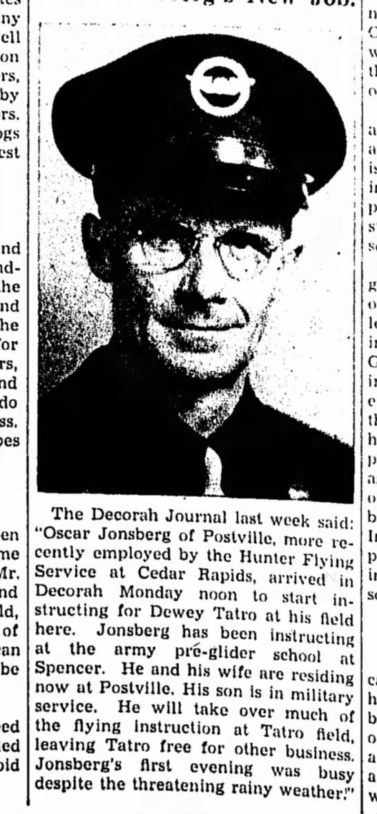 1945 Postville Herald 7.25.1945 - by do Mr, of bo The Decorah Journal last week...