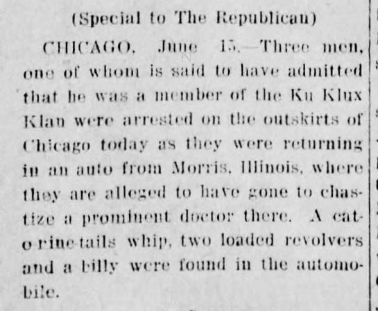 15 June 1922 - (Special to The Republican) CHICAGO, .lune 1 -...