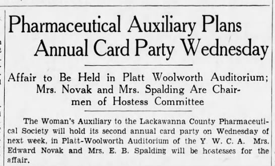 Blodwyn Davis - Pharmaceutical Auxiliary Plans Annual Card...