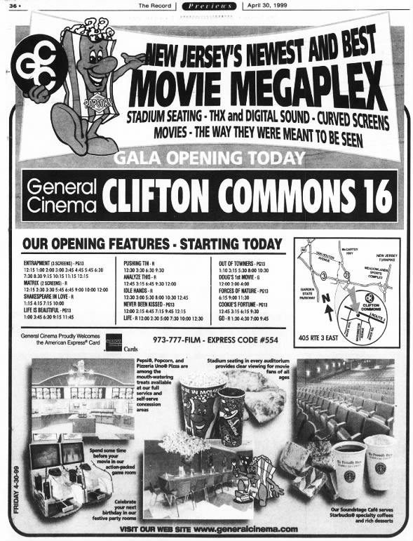 General Cinemas Clifton Commons 16 opening