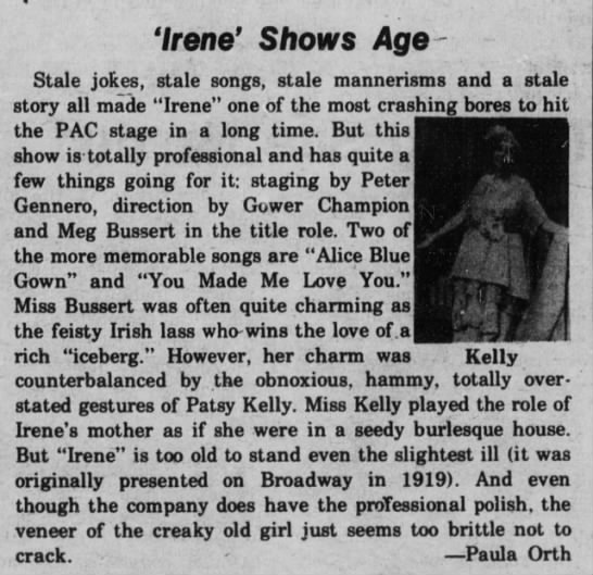 Wisconsin Jewish Chronicle, 10/30/1975 - ' i A 'Irene' Shows Age- Age- Stale jokes,...