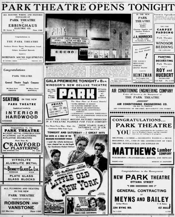 Park Theatre opening