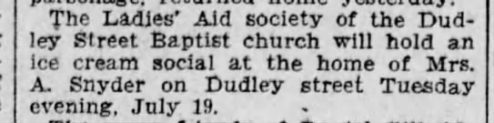 Angus C Snyder - The Ladies' Aid society of the Dud ley Street...