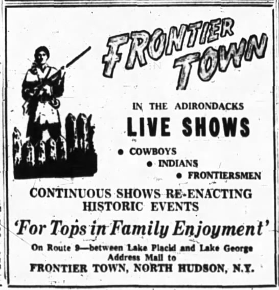 Frontier Town News - is Ely THE ADIRONDACKS LIVE SHOWS a COWBOYS...