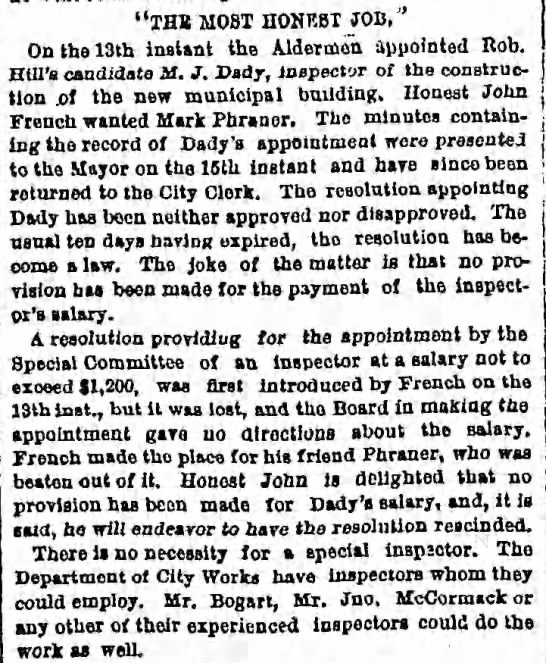 "Tuesday, November 28, 1876 - Page 4 - ""THB MOST HONRBT JOB,' On tho 13th instant the..."