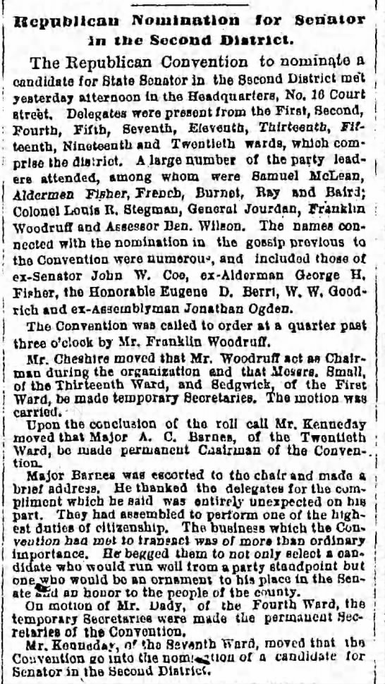 Wednesday, October 24, 1877 - Page 2 - Republican Nomination for Senator In (lie...