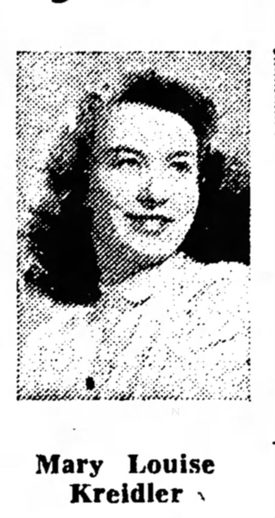 Mary Louise Kreidler May 29 1947 - Mary Louise Kreidler •*