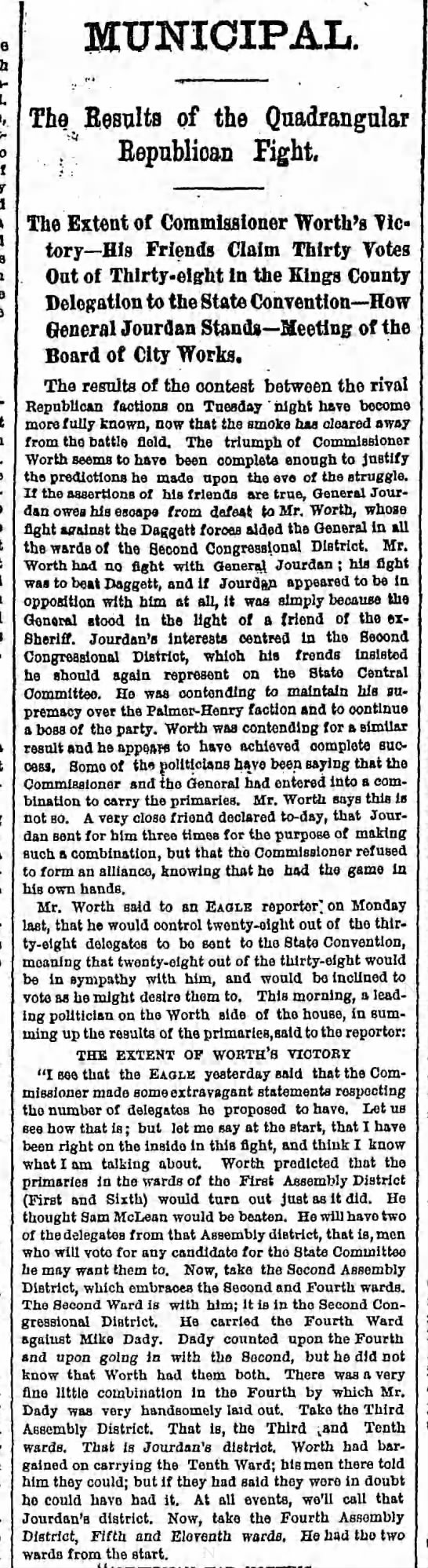 Thursday, August 28, 1879 - Page 4 - - MUNICIPAL. The Eesults of the Quadrangular...