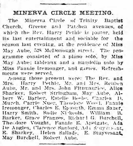 Minerva Circle Meeting at May Aube - MINERVA CIRCLE MEETING. The Minerva Circle of...