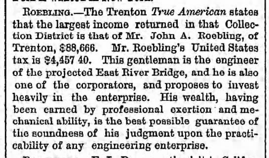 Roebling Trenton earnings $88,666 yr - Eoebuno The Trenton True American states that...