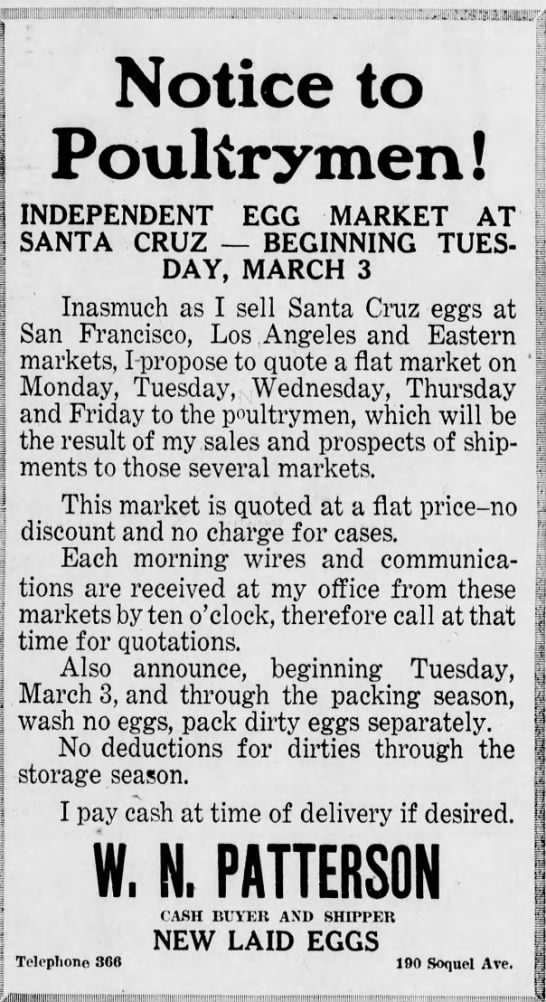 poultry - Notice to Poultrymen ! 1 S INDEPENDENT EGG...