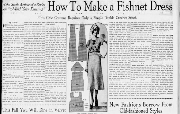 How to make a fishnet dress (1932)