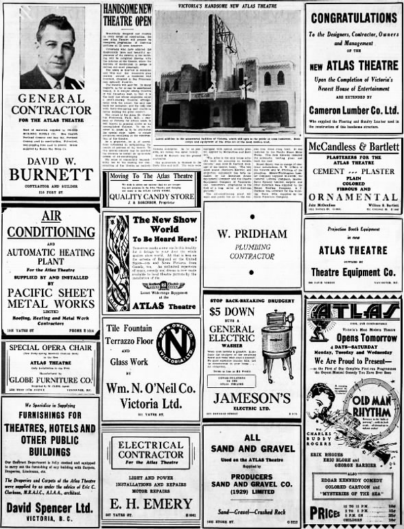 Atlas theatre opening