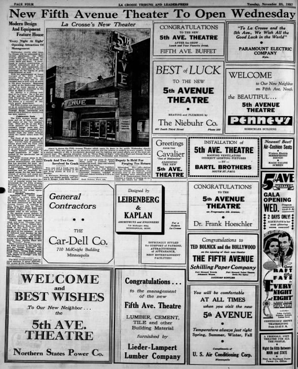 5th Avenue theatre opening