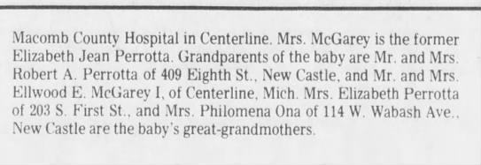 woody's birth announcement2 - Macomb County Hospital in Centerline. Mrs....